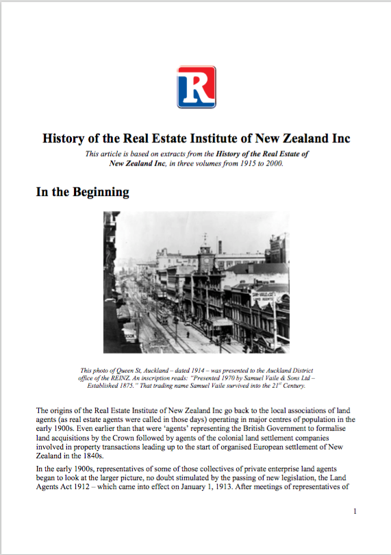 REINZ History Document